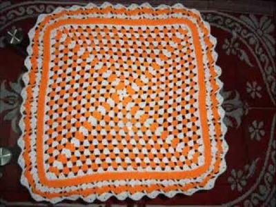 Crochet Square table cloth