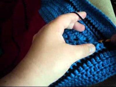 [Crochet] Surface Crochet Down a Round Ripple Afghan