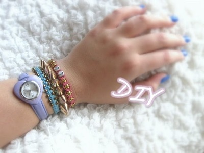 DIY Beaded Square-Knot Bracelet Tutorial. ARM CANDY
