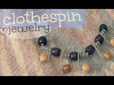 DIY: Clothespin Jewelry