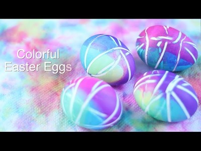 DIY: Colorful Easter Eggs (with Rubberbands!)
