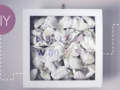 ✂ DIY Floral Shadowbox