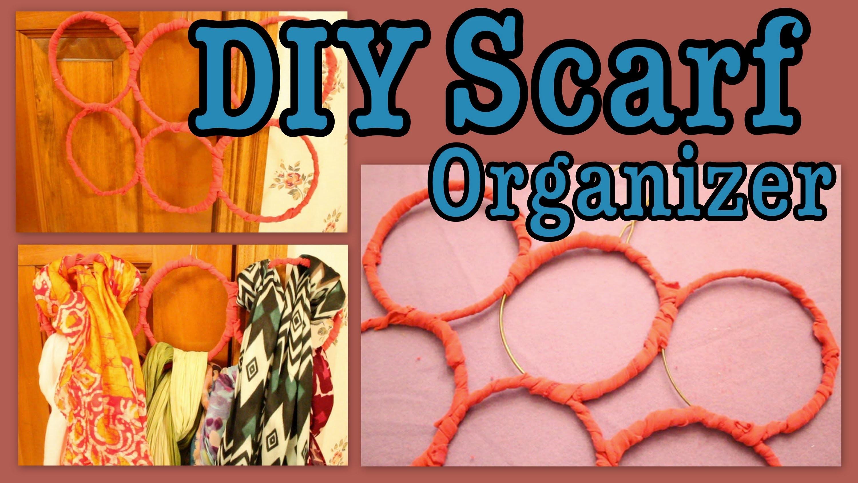 DIY: Hanging Scarf Organizer!