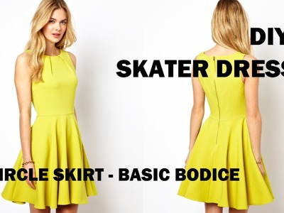 DIY | HOW TO MAKE A SKATER DRESS (CIRCLE SKIRT)