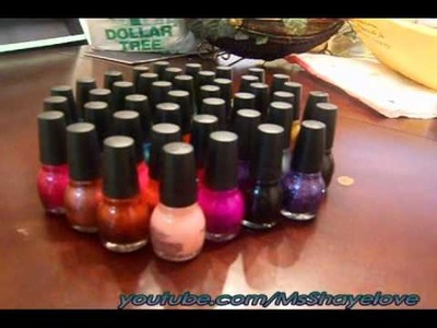 DIY:Polish Rack & Sinful Colors Nail Polish Haul