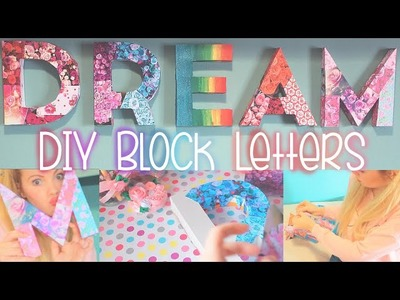 DIY Spring Wall Art: Block Letters [ Out Of Cereal Boxes ] ♥ Easy, Recycled DIY Room Decor