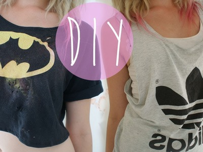 DIY Tank Top and Crop Top from Old T-shirts