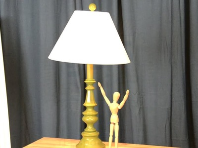 DIY: Transform a thrift store lamp for a POP of color!