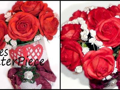 DIY Valentines Center Piece Bouquet - Tutorial
