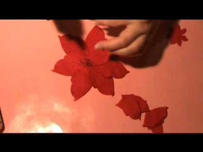 Easy Poinsettia Flowers Tutorial