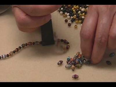 Eight Strand Paper Bead Bracelet -Part 1.wmv
