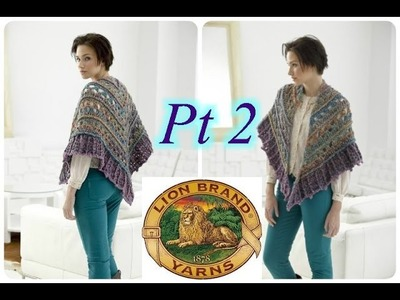 Falling Water Shawl - PART 2 - Left Handed Crochet Tutorial