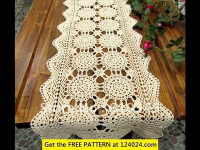 Filet crochet tablecloth patterns