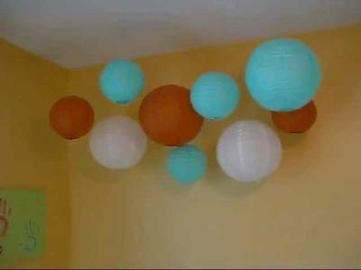 Hanging Paper Lanterns DIY