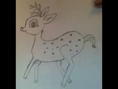 How To Draw A Deer- DIY, A Cute Baby Deer