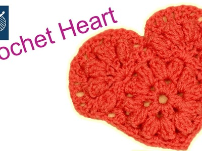 How to make a Crochet Heart - Left Hand Crochet Geek