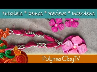 How to make a Lotus flower earring and necklace focal beads
