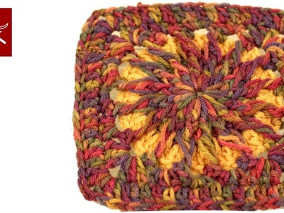 How to make Crochet Granny Circle to Square 3 Crochet Geek
