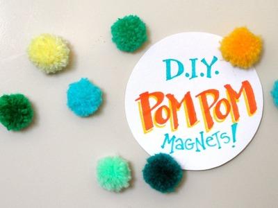 How to Make Pom Pom Magnets Tacks DIY Decoration