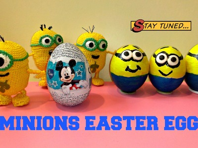 Painted Easter Eggs Minions Crochet Egg Minion Ovo de Páscoa