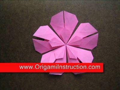 Paper Folding Origami Five Petals Flower