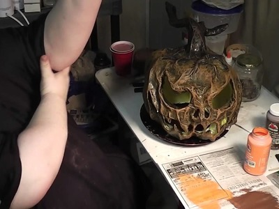 Paper mache Pumpkins- 14 -  Give my creation life!!!