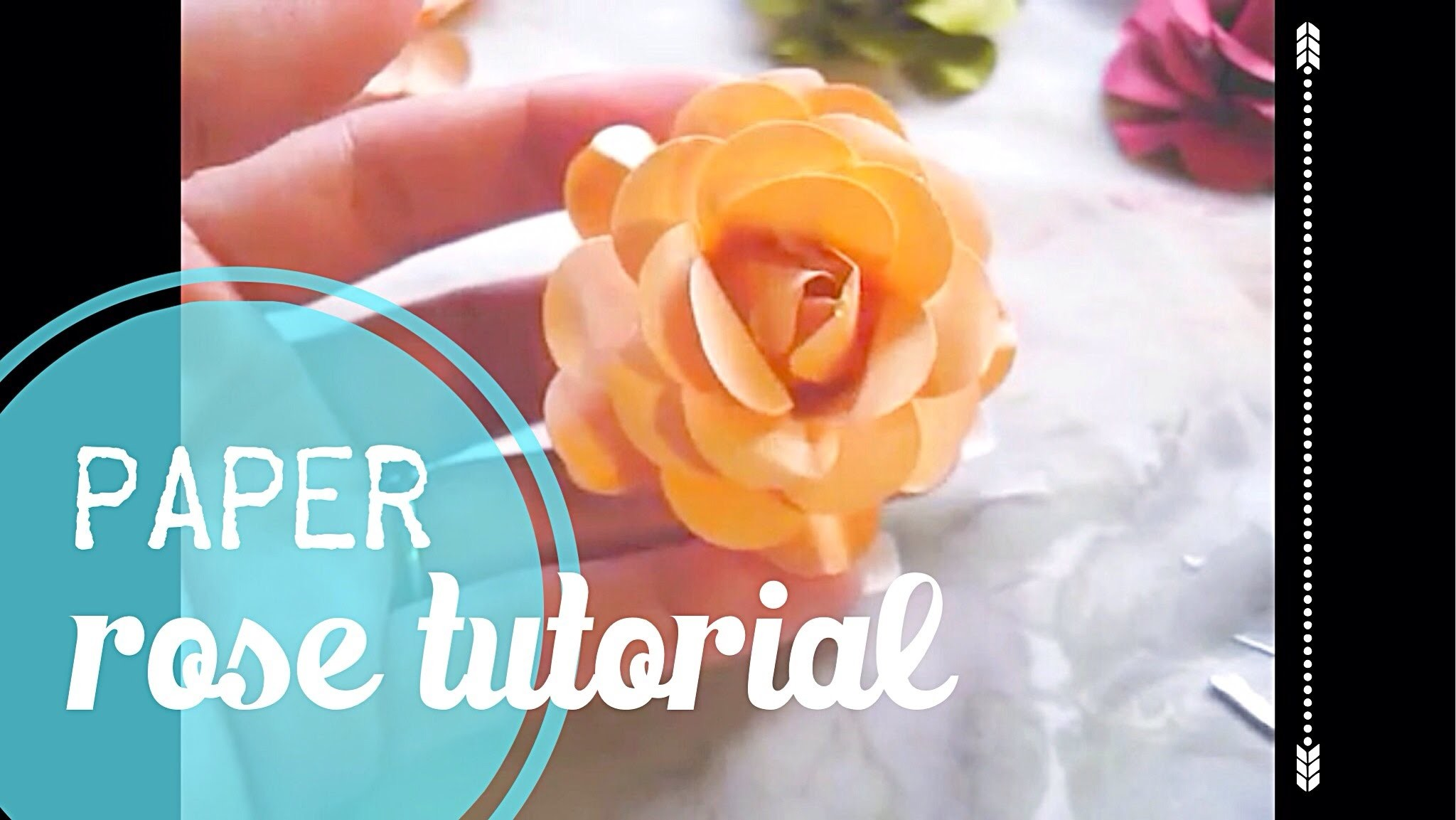 Paper Rose Tutorial!!