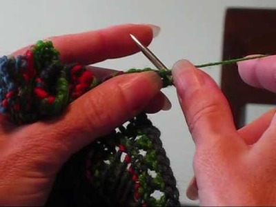 Picking up Stitches along the Border of the Outlander Scarf