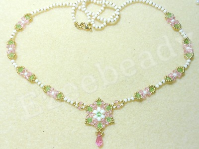 Romantic Roses Necklace Beading Video Tutorial by Ezeebeady
