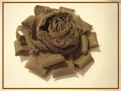 RUFFLED AND ROLLED SHABBY CHIC FLOWER tutorial