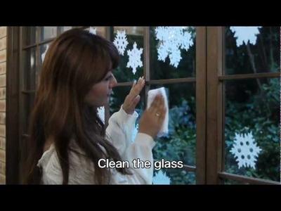 SNOWFLAKE 【How to Apply】Mino Washi Japanese Paper Handmade natural craftsmen IEDA
