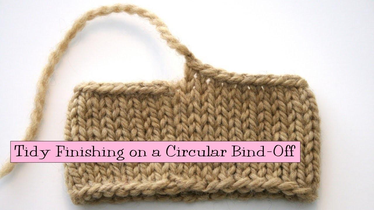 Tidy Finishing on a Circular Bind-Off