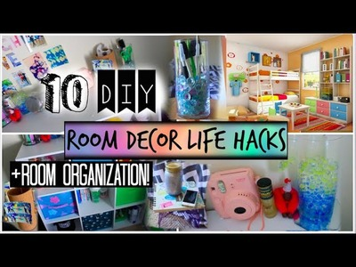 10 DIY Room Organization and Storage Ideas! + Room Decor Life Hacks!