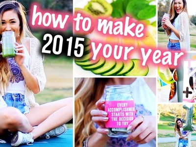 10 Ways to Make 2015 The Best Year! DIY Organization Room Decor & Healthy Snacks!