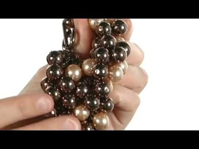 ABS Allen Schwartz The Bead Goes On Pearl and Bead Cluster Flex w. Ring and Toggle Necklace 7674972