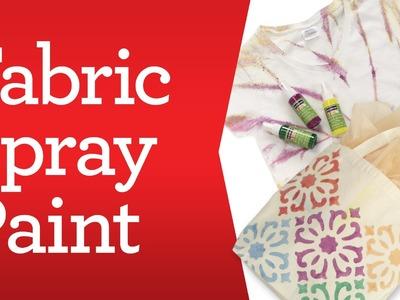 Apparel Crafting Basics: Fabric Spray Paint