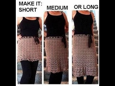 CROCHET A SKIRT, any size, toddler to adult, short, medium or long.