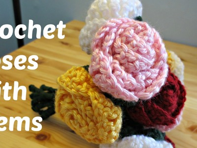 Crochet Roses With Stems