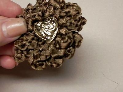 Crocheted flowers using ribbon 001.MOV