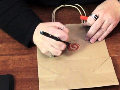 Decorating Brown Paper Gift Bags With Folk Art Designs : Various Decorative Crafts