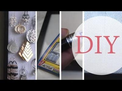 DIY #2: Creative Earring Holder