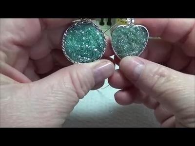 DIY~Amazing Faux Druzy Pendants! Beautiful & Simple!