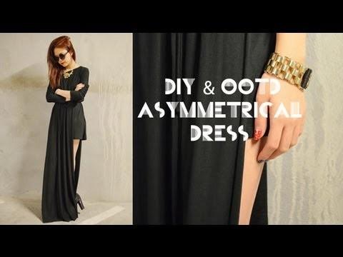 DIY & OOTD Asymmetrical Dress