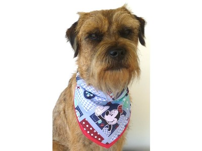 DIY dog bandana slip through collar design FREE PATTERN with Lisa Pay
