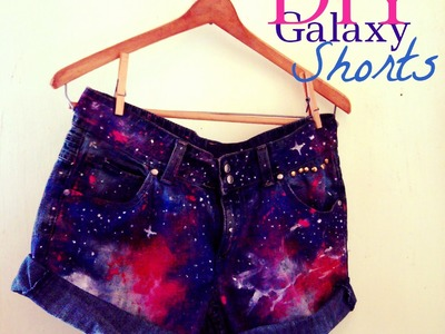 DIY Galaxy High Waist Denim Shorts + Distressing & Studs