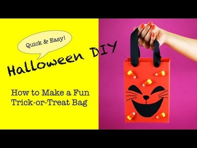 DIY Halloween Trick-Or-Treat Bag