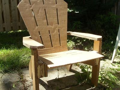 DIY Homademade Cardboard Adirondack Chair. Muskoka Chair