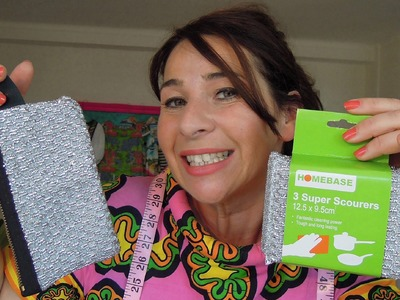 DIY How-to make a Glitzy purse - LIBERATE kitchen scourers!