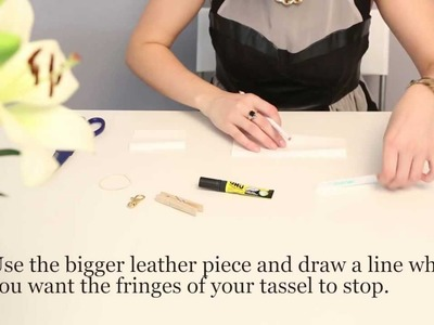 DIY: Leather Tassel Keyfob