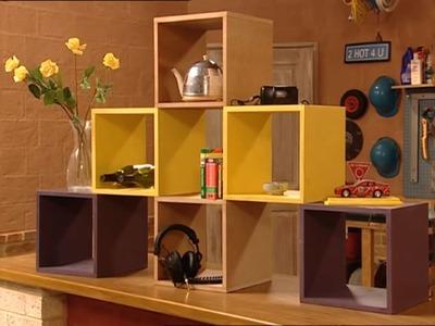 DIY Modular Cube Shelves